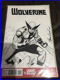Wolverine Original Art Blank Cover