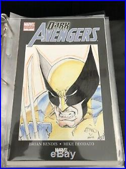 Wolverine Original Art Sketch Cover Ethan Van Sciver Moose Baumann Coloring