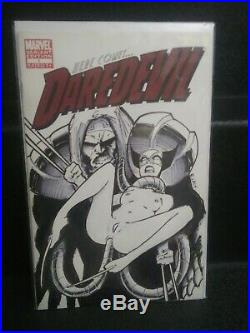 Wolverine X-rated Sketch on Dare Devil Cover B Lacy Original Art Nude Comic