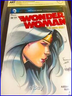 Wonder Woman #19 Blank Cover Cbcs 9.8 Ss Nm+ Original Art By David Finch