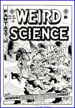 Wood, Wally Weird Science #22 Original Cover Art (large) 1953