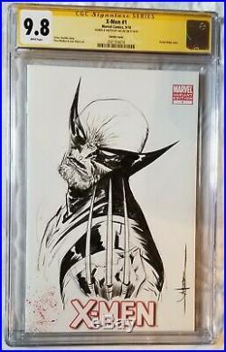X-Men #1 CGC 9.8 Jae Lee Original Art Sketch Wolverine on blank cover