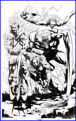 X-Men/Fantastic Four #2 Marvel 2005 (Original Art) Cover Pat Lee! Wolverine