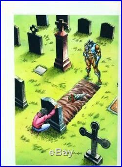 X-O Manowar #32 Cover Valiant Comics ORIGINAL COLOR ART Hand Painted 1994