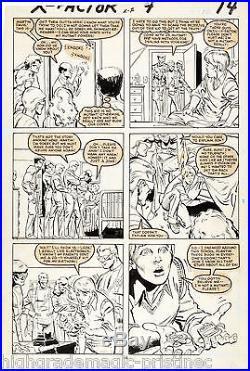 X-factor #4 Page 10 Original Art 1986 By Joe Rubinstein And Keith Pollard