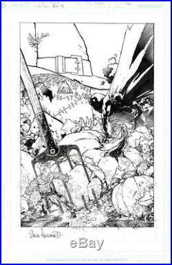 Year One Batman/Scarecrow DC 2005 (Original Art) Cover Zach Howard